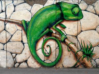 12001446-Wall-painting-graffiti-Chameleon-Sprite-Graffiti-Fest-2011-Sofia-Bulgaria-Photo-taken-on-10-09-2011-Stock-Photo