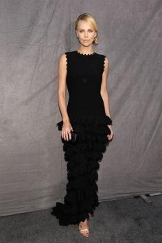 Charlize Theron wearing Azzedine Alaia