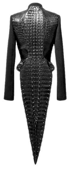 Azzedine Alaia crocodile leather coat