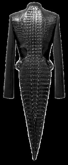 Azzedine Alaia crocodile leather coat