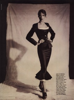 Christy Turlington wearing Azzedine Alaia photographed by Paolo Roversi