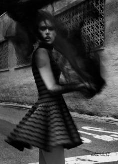 Alessandra Ambrosio wearing Azzedine Alaia