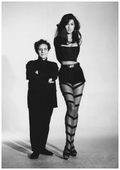 Azzedine Alaia and Yasmeen Ghauri photographed by Patrick Demarchelier in 1999