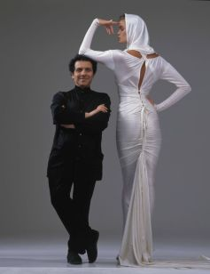 Azzedine Alaia and Elle McPherson