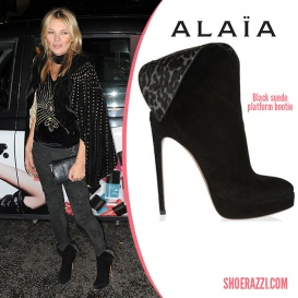 Alaia boots worn by Kate Moss