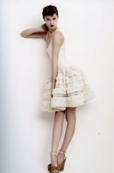 Kasia Struss wearing Azzedine Alaia photograohed by Willy Vanderperrre