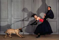 Beatrice Dalle and Azzedine Alaia photographed by Jean Paul Goude