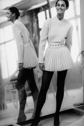 Azzedine Alaia outfit photographed by Peter Lindbergh
