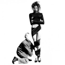 Naomi Campbell and Azzedine Alaia photographed by Arthur Elgort in 1986