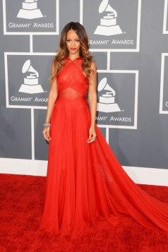 Rihanna wearing Azzedine Alaia
