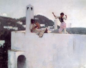 """Capri Girl on a Rooftop"", 1878"