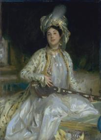 """""""Portrait of Almina, daughter of Asher Wertheimer"""", 1908"""