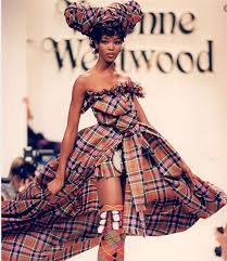 Naomi Campbell walking for Vivienne Westwood