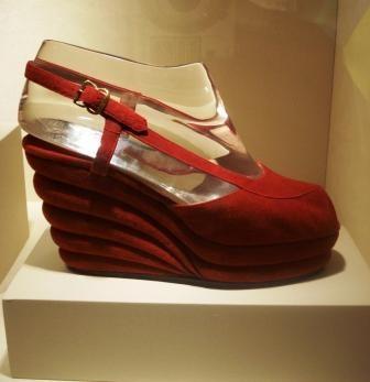 Salvatore Ferragamo populized the wedge heel