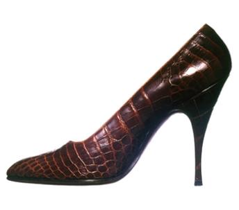 Crocodile stilettos designed for Marilyn Monroe