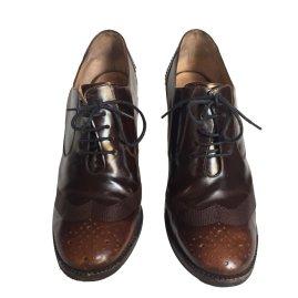 Salvatore Ferragamo Dark brown leather Laceups