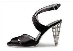 Cage heel created by Salvatore Ferragamo