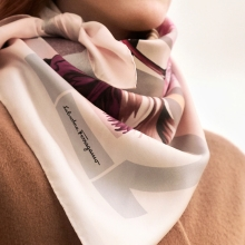 Silk scarf by Salvatore Ferragamo